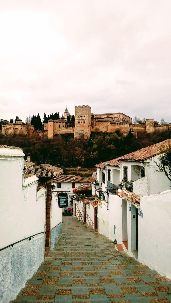 Alhambra view from Albayzin