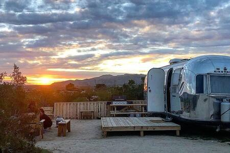 Hip Joshua Tree Desert Airstream