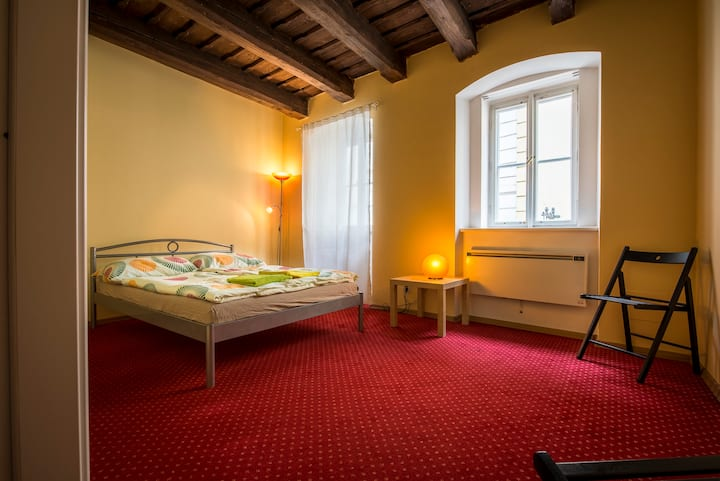 cozy room next to Charles Bridge