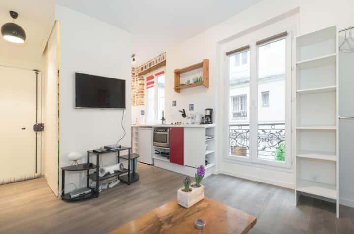 Studio calme, neuf et équipé proche Montmartre