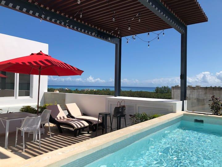 Premium loft, depa con alberca a 5 min Del Mar