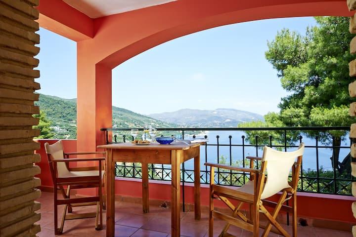 *Turtle Island Studio B with panoramic sea view*