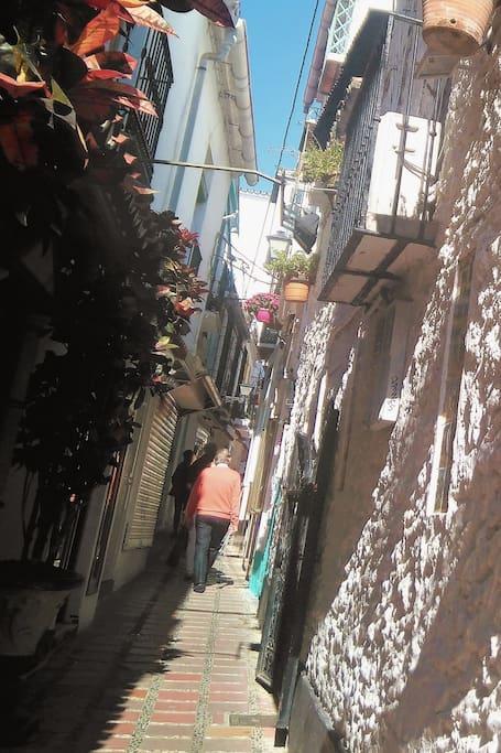 Street with Arab origin