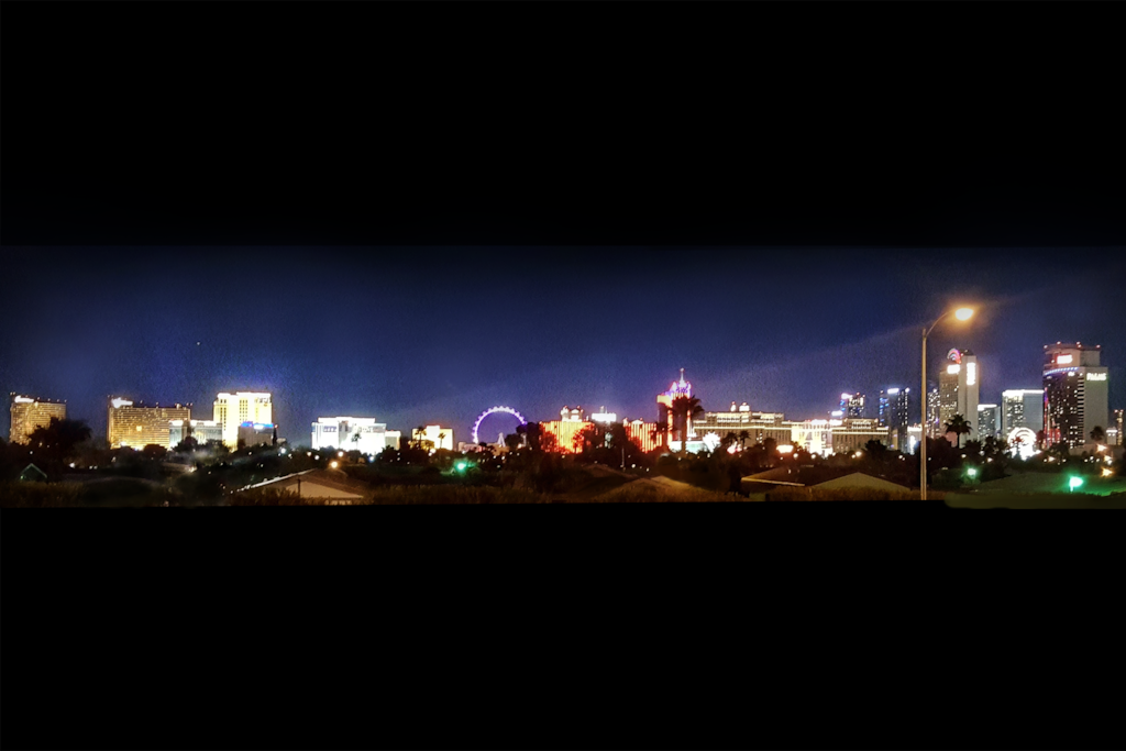 Enjoy this Beautiful Panoramic View of The Strip from the house!