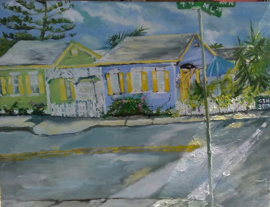 The Tropics Compound as interpreted during our Town's Plein Air festival.