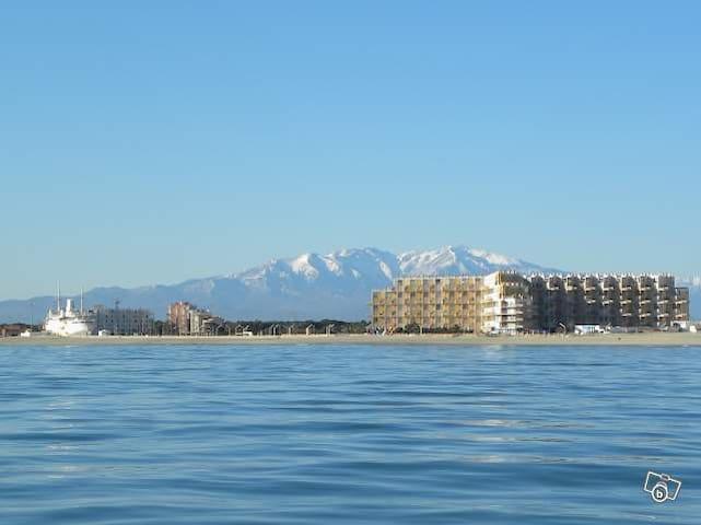 Le Barcares studio balcon vue mer