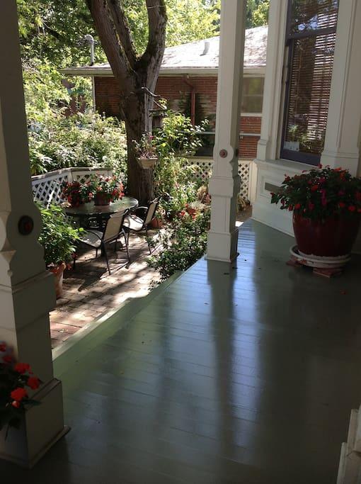 Front porch & Terrace