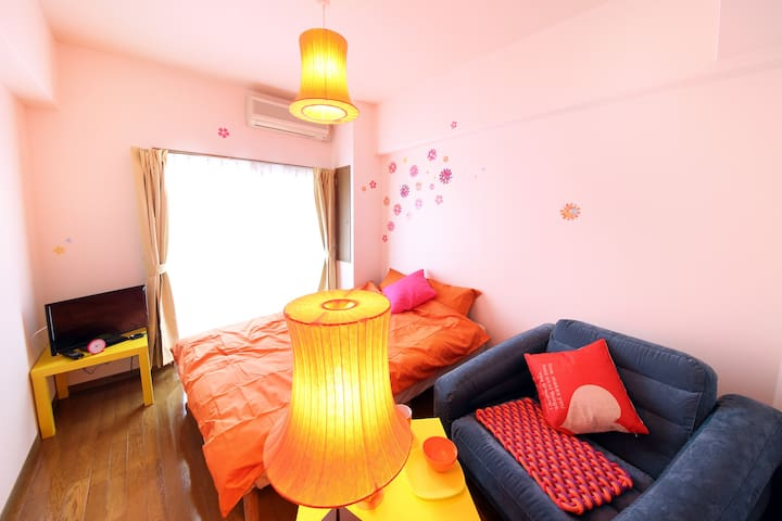 New open!! Colorful & powerfu room Osaka 403#EX4 - Nishi-ku, Ōsaka-shi - Apartament