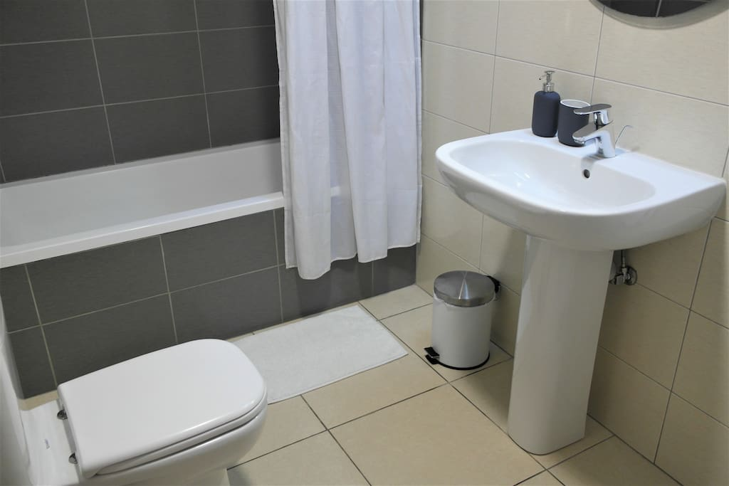 Bathroom with the bathtub is connected to master bedroom