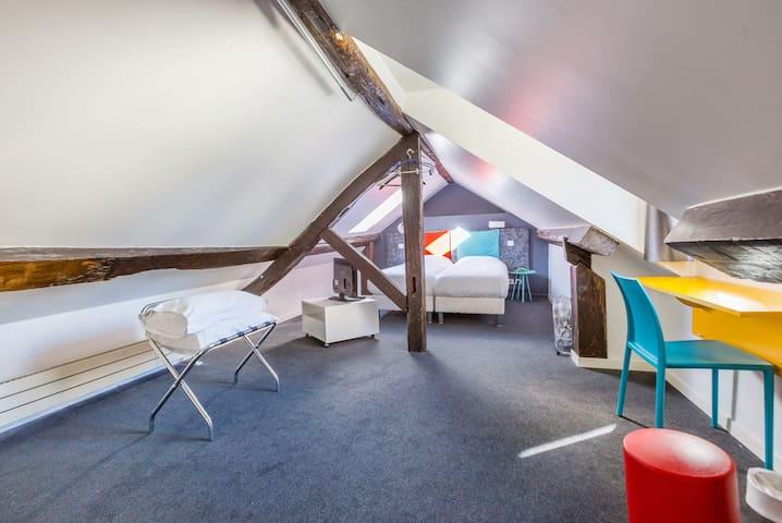 Chambre design et cosy à Oberkampf