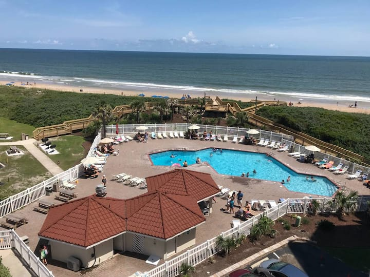 GREAT OCEAN&POOL VIEW, 2 BR, 2 BATH CONDO, TOPSAIL