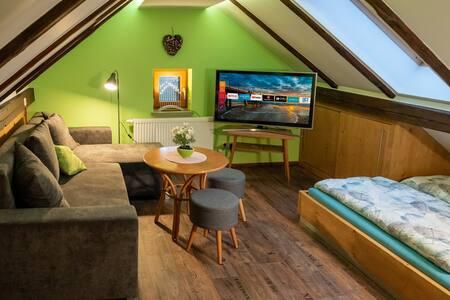 Gemütliche Dach-Whg /Smart TV /grandioser Ausblick