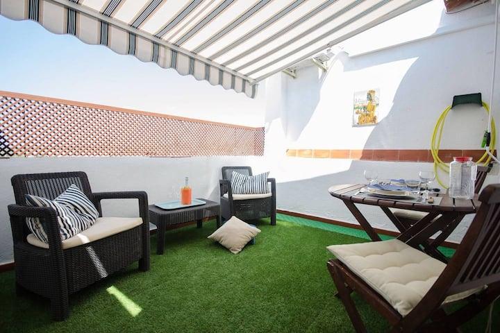 Oscar Apartments Sol, with terrace