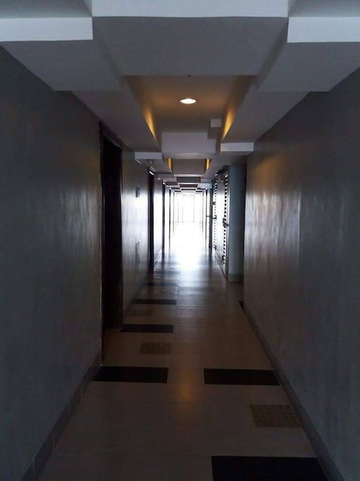 This is how the hallway of the 6th floor of the condominium building looks like.