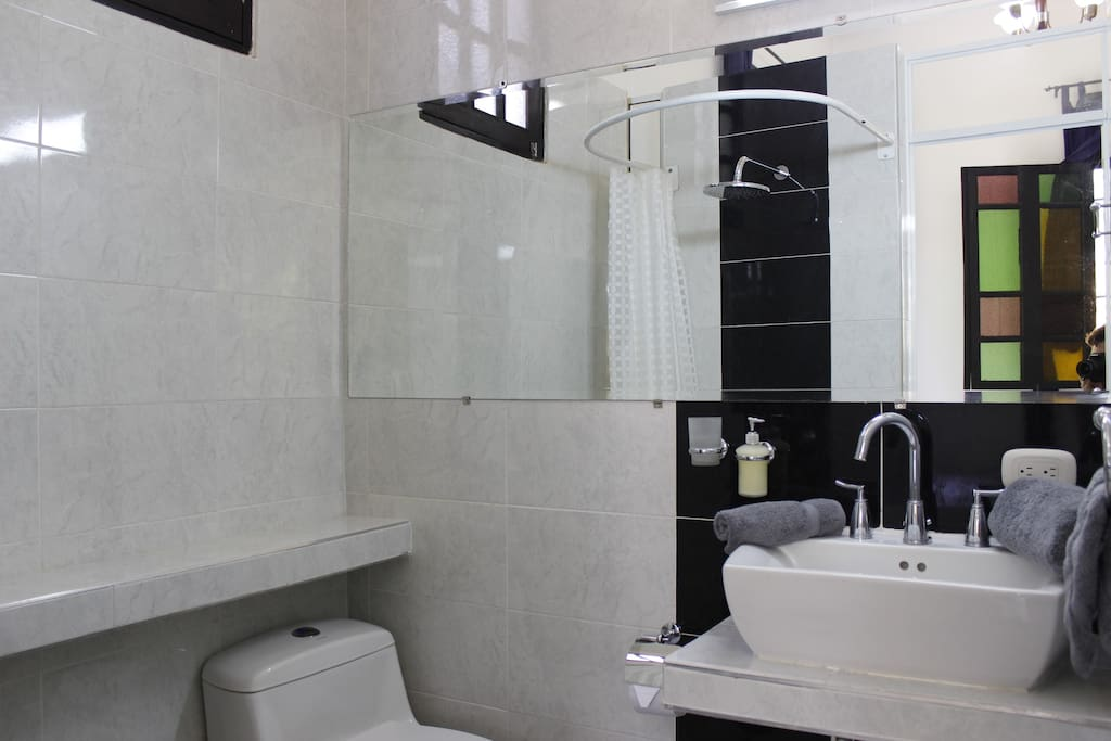 spacious ensuite bathroom