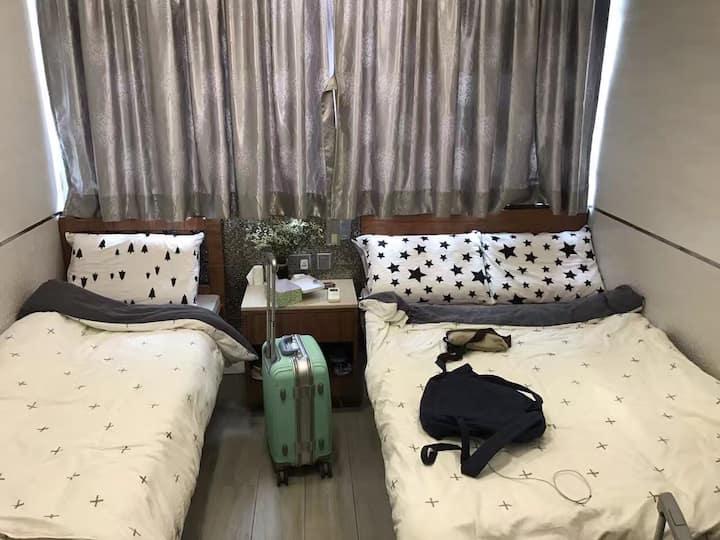 B5旺角中心/購物首選/陽光充沛/乾淨舒適精裝修/獨立衛浴電視三人房