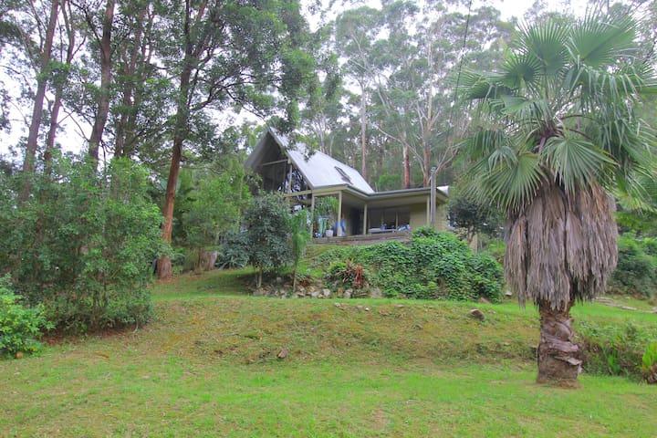 Boho chic A-frame bungalow