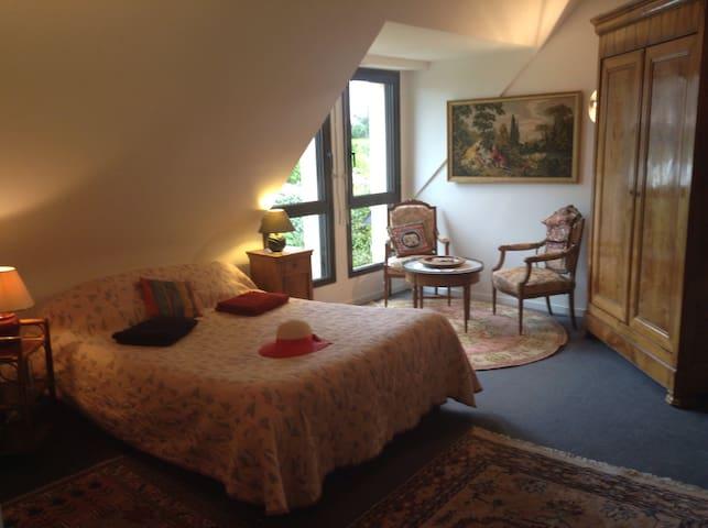 Côté jardin grande chambre/salon - Saint-Lunaire - Haus
