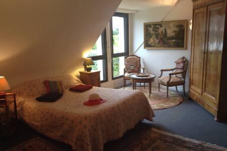 Côté jardin grande chambre/salon - Saint-Lunaire
