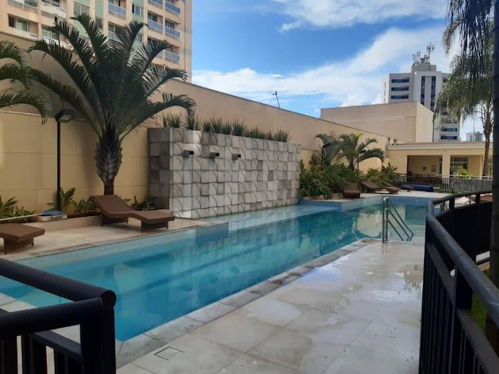 Lazer piscina aquecida - melhor bairro de Brasília