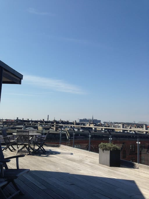 Rooftop with a view over Copenhagen