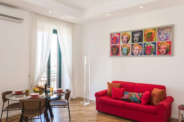 Bright,stylish, renovated Flat near Villa Borghese