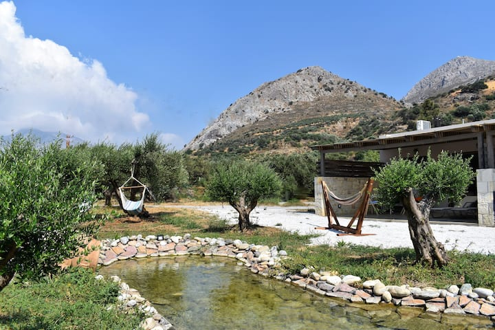 Situated on a 5 acres farm, 1 km from the beach