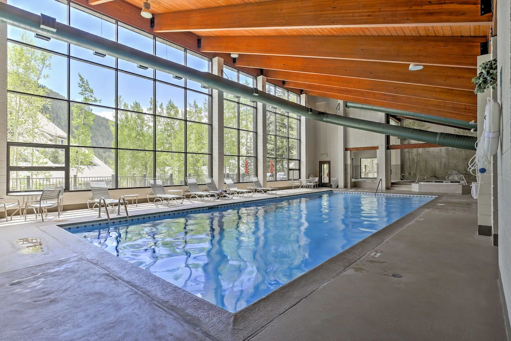 No matter which season it is, you'll enjoy swimming in the indoor community pool.