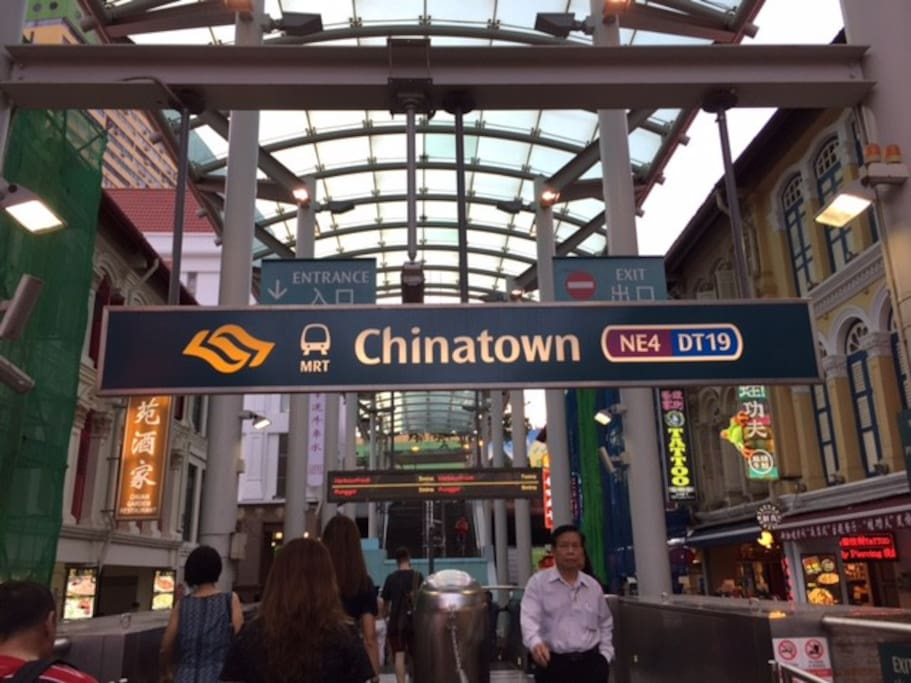 Stay right next to Chinatown MRT station