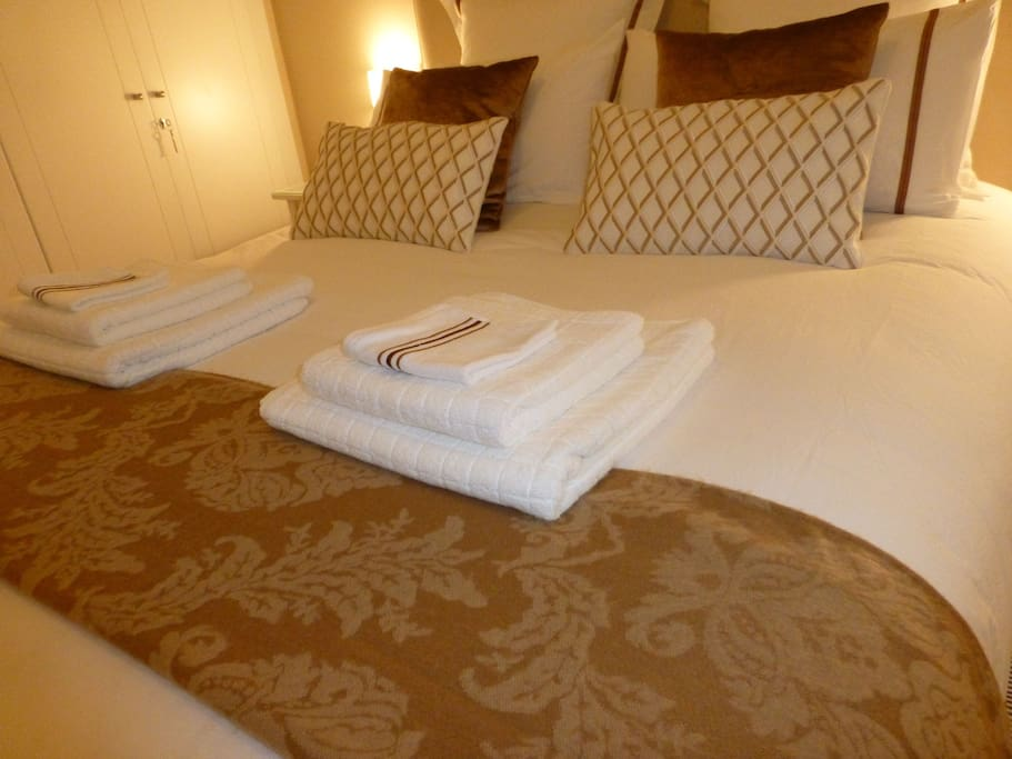 high quality sheets and towels