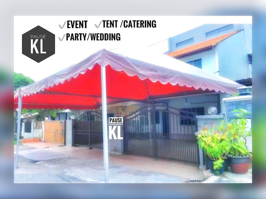 Event / Party / Pre wedding / tent catering can be set up (Self arrangement or request)  Wedding & Party hosting subject to RM100 charges.