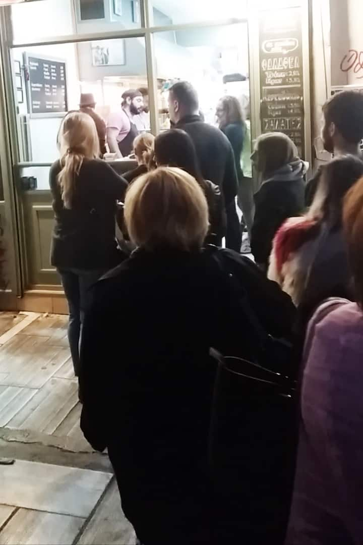 Some great places often have queues!