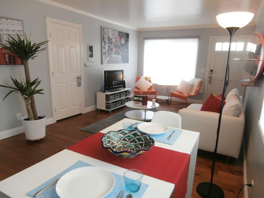Living room / Dining Room.  Roku TV.  Wifi access.