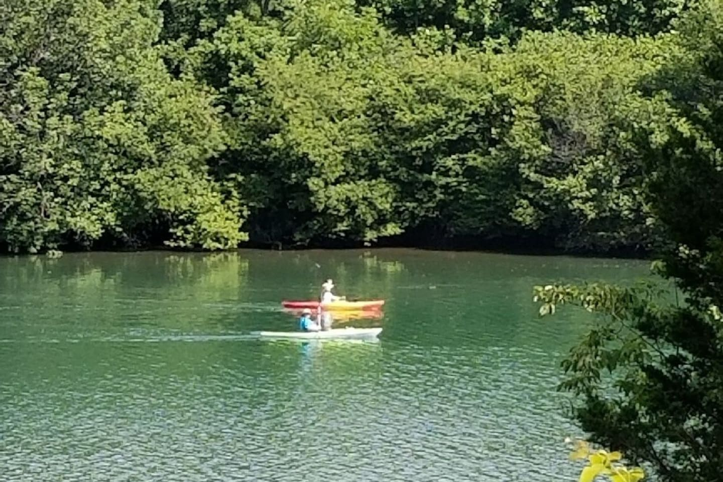 Summer day canoes on Melton Hill Lake.