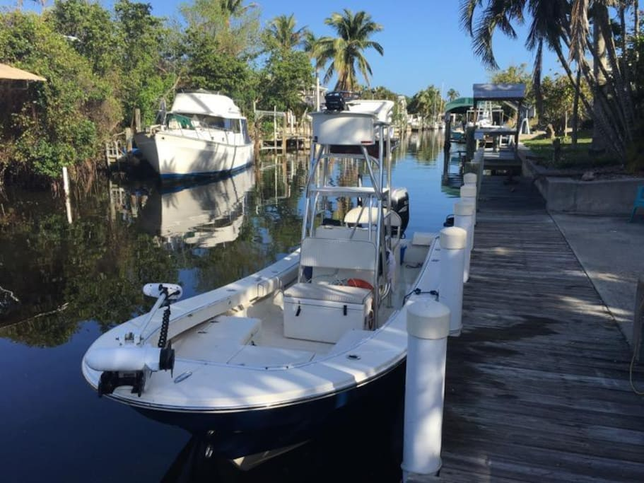 Captain Tim's Charter boat waiting to take you on the fishing adventure of a lifetime.