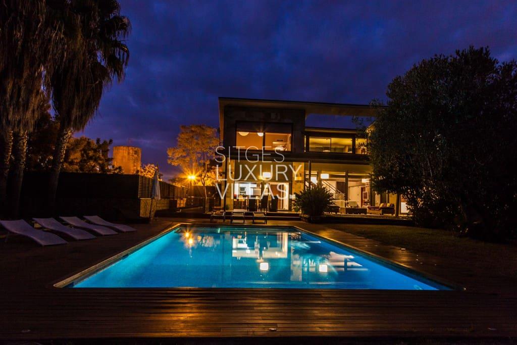 Villa iluminada