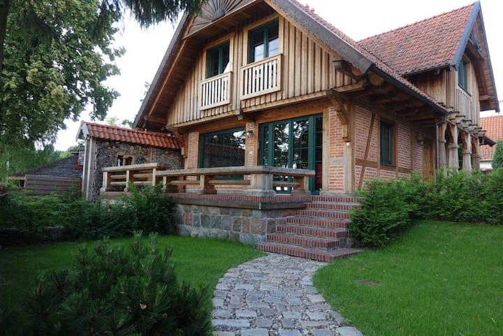 Chata Baba Gaga - całoroczny dom na Mazurach
