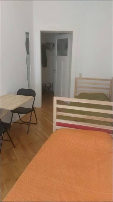 Gästezimmer vom Fenster aus