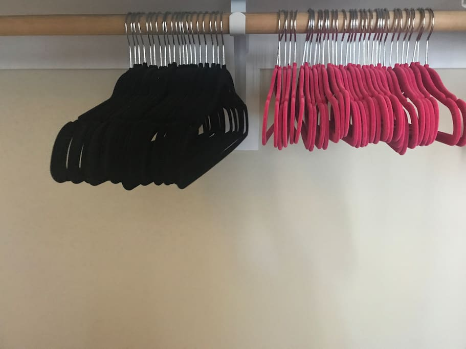 Closet space available in private bedroom