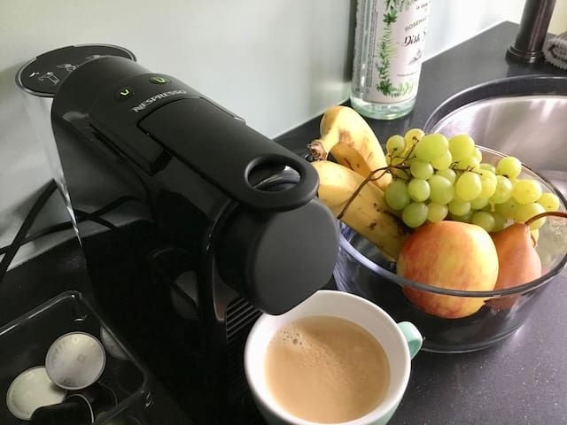 Your moring nespresso and fruit bowl