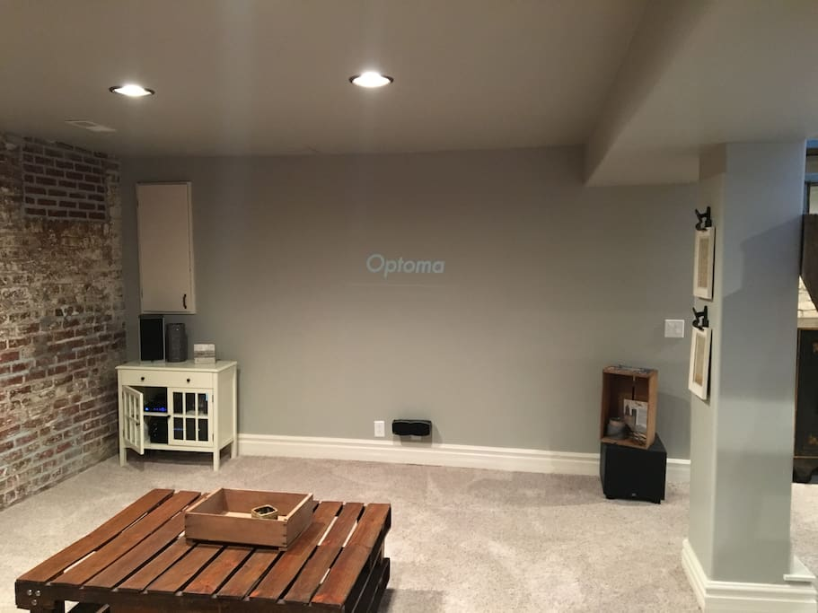 Theater style projector screen TV