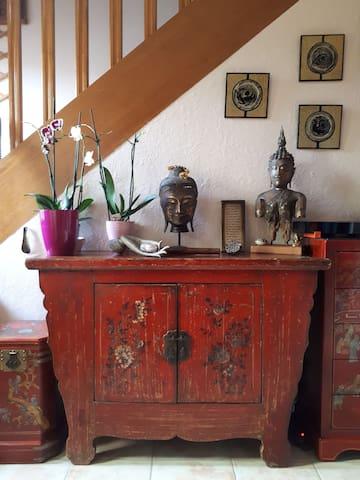 Petite maison Zen (pt. déj. inclus/SdB privée)