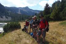 One of our groups out trekking