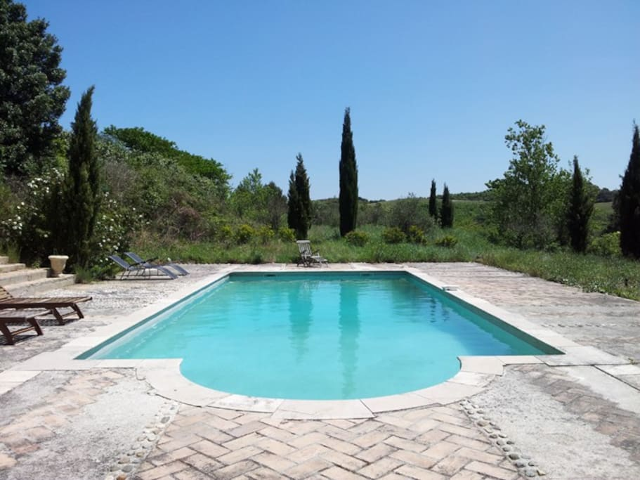 The Pool with views to the Pyrenees.