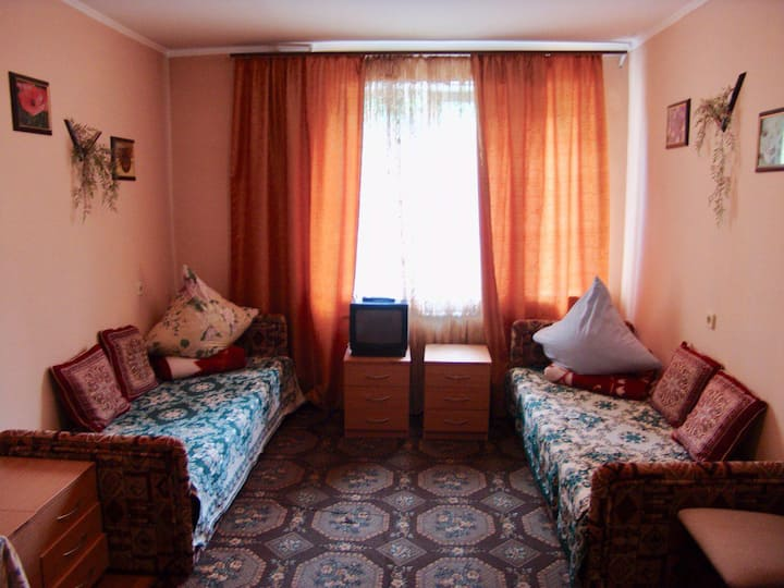 Cozy room near the city center for 3 guests