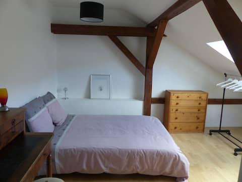Chambre idéale pour 1 personne en déplacement pro.