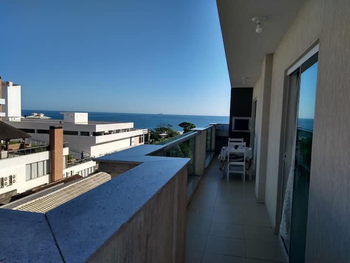 Inspire-se com linda vista para o mar em Bombinhas