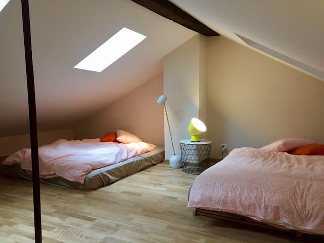Sleeping area upstairs