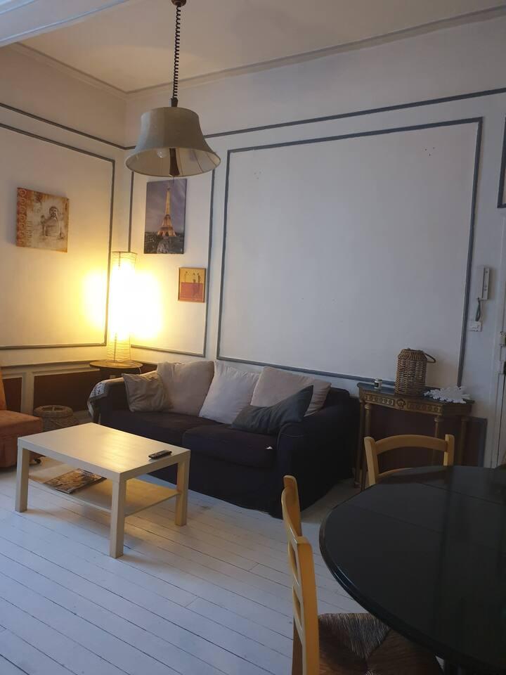 confortable et chaleureux Studio avec une chambre
