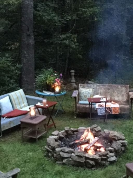 Dinner and Cocktails by the firepit!